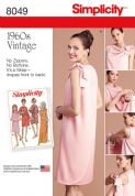8049 Simplicity Pattern: Misses' Three Armhole Back-Wrap Dress in Two Lengths